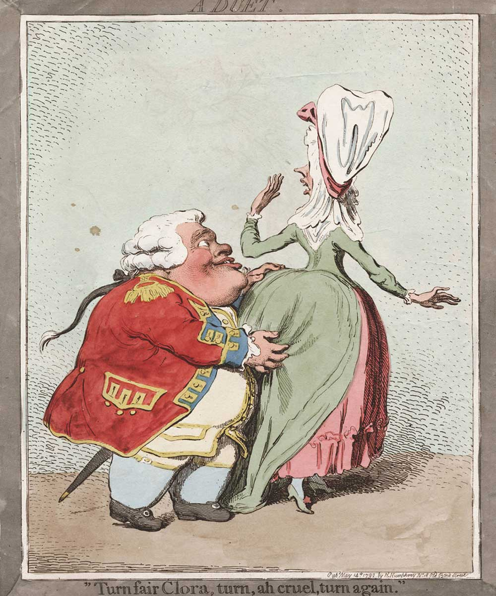 A man groping a woman